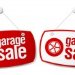 Garage for sale signs. — Stockvectorbeeld