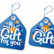 Vector de stock : Gift labels.