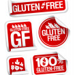 Gluten free food stickers. — Stock Vector