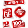 Gluten free food stickers. - Stock Vector