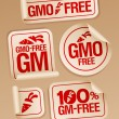 GMO free stickers. - Stock Vector
