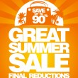 Final summer sale design template. — Vector de stock  #14211087
