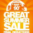 Final summer sale design template. — Stockvectorbeeld