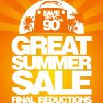 sista sommaren försäljning formgivningsmall — Stockvektor