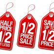 Promotional sale labels. — Vettoriale Stock