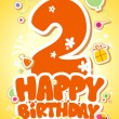 Vector de stock : Happy Birthday card.
