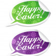 Stock Vector: Happy Easter stickers.