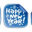 Kerstmis stickers — Stockvector #14211173