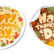 Thanksgiving Day stickers. — Stock Vector