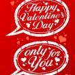 Valentine day stamps. - Stockvectorbeeld