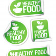 Healthy Food stickers. — Vecteur