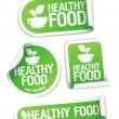 健康食品のステッカー — ストックベクタ