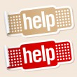 Help stickers. — Stockvectorbeeld