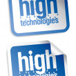 Stock Vector: High technologies stickers