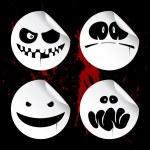 Monster smileys, halloween stickers. — Stock Vector #14211261