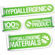 Royalty-Free Stock Vector Image: Hypoallergenic products stickers.