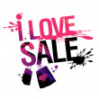 I love sale illustration. — 图库矢量图片