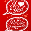 Valentine day stamps. - Vektorgrafik