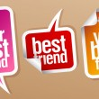 Best friend stickers. — Stock Vector #14211303