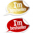 I am bestseller stickers. — Stock Vector #14211304