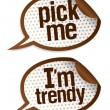 Pick me I am trendy stickers. - Stock vektor