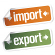 Import and export stickers — Stock Vector #14211315