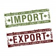 Import and export stamps — Stock Vector