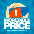 Incredible price, sale design template. - Imagen vectorial