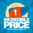 Incredible price, sale design template. — 图库矢量图片 #14211318