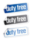 Duty free stickers — Stock Vector
