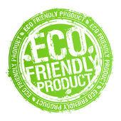 Sello de producto respetuoso con el eco. — Vector de stock