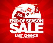 Slutet av säsongen försäljning formgivningsmall. — Stockvektor