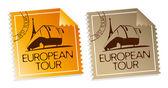 European tour tickets. — Stock Vector