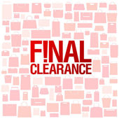 Final clearance background. — Stock Vector