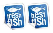 Best fish stickers — Stock Vector