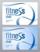 Fitness club membership card. — Stockvector