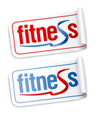 Fitness stickers. — Stock Vector