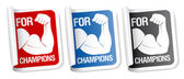 For champions stickers. — Stock Vector