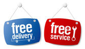 Free delivery signs. — Stock Vector