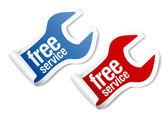 Kostenloser service-aufkleber — Stockvektor