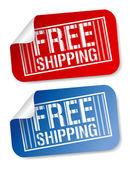 Free shipping stickers. — Stockvektor