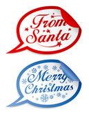 Noel çıkartmaları — Stok Vektör
