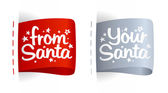Labels for gifts from Santa. — Stock Vector