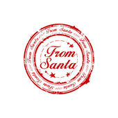 From Santa stamp — Stock Vector