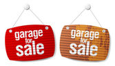 Garage for sale signs — Stock Vector
