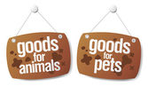 Doods for pets signs — Stock Vector