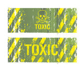 Toxic backgrounds — Stock Vector