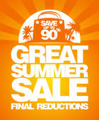 Final summer sale design template. — Stock vektor