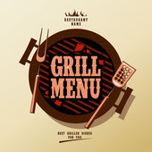 Menú parrilla. — Vector de stock