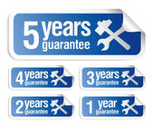 Guarantee stickers set — Stock Vector